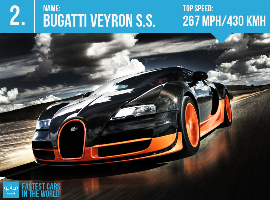 Bugatti Veyron Super Sport ~ Top Speed: 267 mph/ 430 kmh