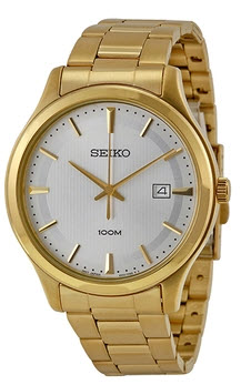 SEIKO Silver Dial Gold-tone Men's Watch SUR054