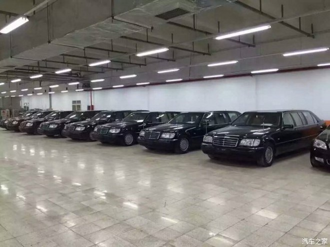 8 sieu xe Mercedes-Benz S500L Pullman duoc thanh ly o trung quoc 02