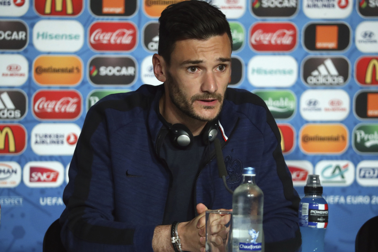 SAINT DENIS, FRANCE - JULY 09: In this handout image provided by UEFA Hugo Lloris of France attends a press conference at Stade de France on July 9, 2016 in Saint Denis, France. (Photo by Handout/UEFA via Getty Images) (Photo by Handout/Getty Images) Picture credit: UEFA (Handout photo provided by UEFA. Only editorial use relating to the event described is permitted. Photo may be distributed to third parties to use for the same purpose provided that no charge is made).